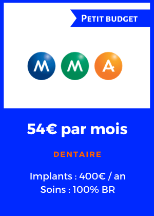MMA - Mutuelle dentaire petit budget